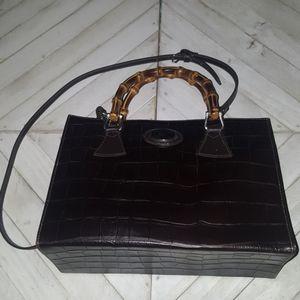 Dooney & Bourke Dark Brown Leather Bag